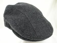 "Orvis Driving Cabbie Newsboy Cap Hat Gray Heather Sz M Fitted 22 1/2"" EUC"