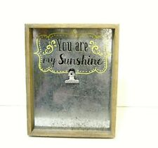 Pier 1 Imports Industrial Style Wood Aluminum Photo Holder Frame 9 x7 inch