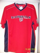 Washington Nationals Majestic TX3 Cool Polo Shirt Red with Sewn patches X-LARGE