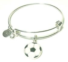 Halos & Glories by Alex and Ani Silver Soccer Charm Bangle Bracelet