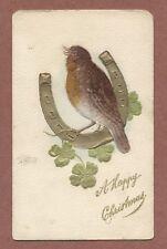 Bird on Horseshoe, Robin/Thrush ? Papier mache,51 Lister Street Hull  RK926