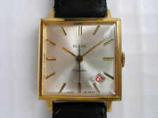 Gold Plated Case Mechanical (Hand-winding) Square Watches