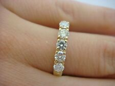 0.50 CT T.W. 14K YELLOW GOLD LADIES DIAMOND WEDDING BAND 3MM WIDE SIZE 8