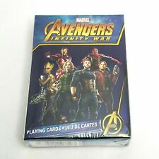 2x TWO NEW MARVEL COMICS THE AVENGERS INFINITY WAR Playing Cards Standard poker