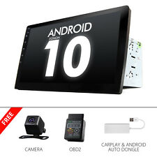 """CAM+OBD+CarPlay+ Android 10 10.1"""" Car Stereo Radio GPS SAT Bluetooth Touchscreen"""