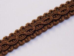 thin brown upholstery trim gimp fabric trimming edge per meter 10mm T012