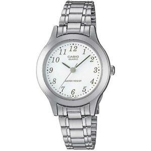 Orologio Donna CASIO LTP-1128PA-7B Slim Bracciale Acciaio Bianco Classico