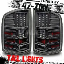 Stealth For 07-13 Chevy Silverado LED Gloss Black Housing Clear Lens Taillights