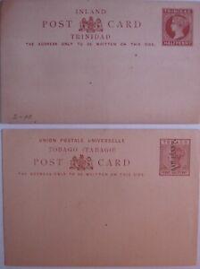 Trinidad ½d & Tobago ½d on1½d mint Postcards.