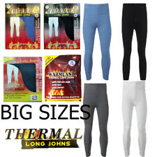 BIG SIZES MEN THERMAL LONG JOHNS  BRUSHED INSIDE FOR EXTRA WARMTH ,XXL,XXXL