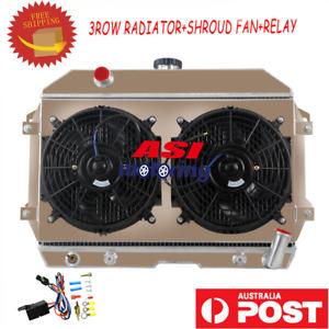 3 Row Radiator KIT For Nissan Datsun S30 240Z 260Z Fairlady Z L6 2.4L 1970-75 76