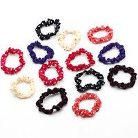 10 Women/Kids Elastic Polka Dot Cute Hair Band Scrunchie Ponytail Holder Ropes