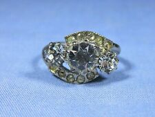Vintage Costume Stone Cluster Ring