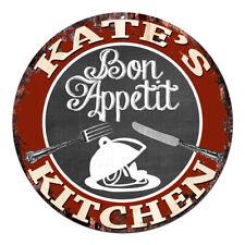 CPBK-0464 KATE'S KITCHEN Bon Appetit Chic Tin Sign Decor Gift Ideas