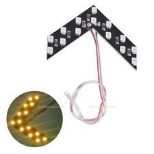 1pc Yellow 14SMD LED Arrow Panels Cars Truck Rear Mirror Turn Signal Indicator