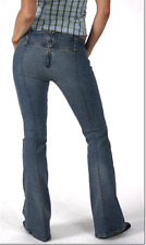 "MISS SIXTY MID BLUE FLARE NIXIE JEANS - UK SIZE 8/10 - WAIST 27"" LEG 33"""