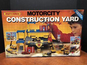 Matchbox 1990 Motorcity Construction Yard Sealed Dela0554