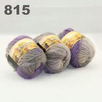 Sale New 3 Skeinsx50g Rainbows Coarse Hand Knit Quick Wool Yarn Shawl Scarves 15