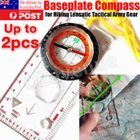 Orienteering Baseplate Compass Hiking Camping Lensatic Map Tactical Army Gear