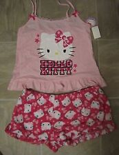 Hello Kitty Pajamas Set Cami Plush Shorts Sleep 2 PC XS or M LAST ONES