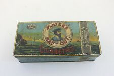 Vintage Embossed PLAYERS NAVY CUT Cigarettes Tobacco Tin Can Empty M70