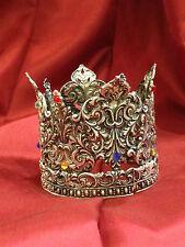 7 cm corona per santi Regina aperta crown ottone Madonna rosario Maria statua