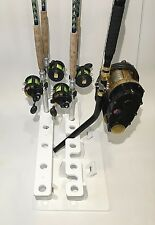 Big Game Rod Rack for 17 R&R Plus a 5 Curved Butt Rod Holder- Marine Polymer