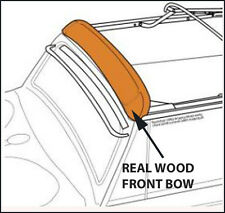 VW BEETLE CONVERTIBLE WOOD FRONT (HEADER) BOW 1965-1967
