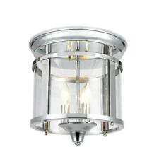 "H. Decorators Collection 3-Light 12.25"" Brushed Nickel Flush Mount Ceiling Light"