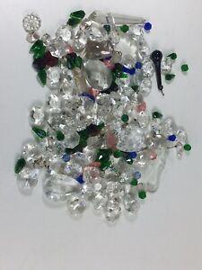 Over 100 Vintage Sparkling Old Antique Crystals For Chandelier - Craft - Wedding