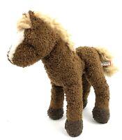 """Douglas Horse Pony Brown White Stripe 10"""" Plush Stuffed Animal Farm Toy Small"""