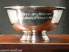 Antique Boston Ma Mayor's! REED & Barton Silver Plate BOWL Revere 1957