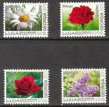 Georgia 2011 / 2012 Flowers Roses, Daisy, Carnation, Lilac set of 4 MNH**