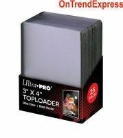 25 x Ultra Pro BLACK TOPLOADER Rigid Card Protector Regular TOP LOADER