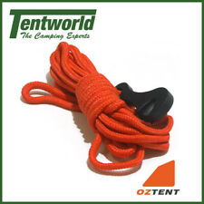 Oztent Long Guy Camping Rope Replacement With Clip