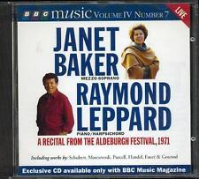 JANET BAKER & RAYMOND LEPPARD: ALDEBURGH RECITAL - BBC CD / MONTEVERDI, FAURÉ ++