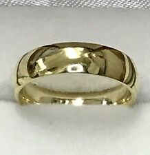 18k solid yellow gold high polish comfort fit plain wedding band ring size 5 5mm