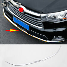 For Toyota Highlander 2015-2017 Chrome Front Grille Bumper Protector Guard trim