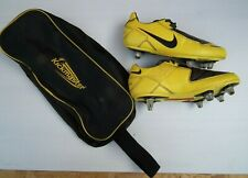 NIKE Total Ninety T90 Shoot Black Yellow Football Boots UK 3