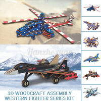 Fighter Series 3D Wooden Puzzle Jigsaw Woodcraft Kids Toy Model DIY Construction