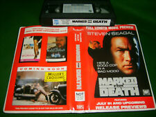 VHS *MARKED FOR DEATH (1990)* Rare Exclusive Dealer Preview + '91 July Trailers