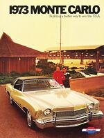 1973 Chevrolet Monte Carlo Chevy 12-page Original Car Sales Brochure Catalog