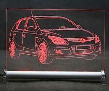Hyundai i30 LED LED Leuchtschild autogravur I 30