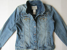 Limited Junior Girl's Jean Jacket  [ Teen Sz XXL ] Missy Fitted Blue Denim Coat