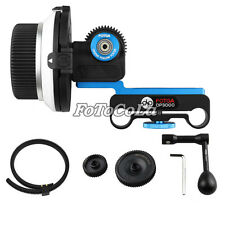 Fotga DP3000 follow focus f DSLR 5D II III 7D D90 15mm rod + gears + speed crank
