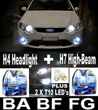 XENON HID Headlight Bulbs Lights + 2  T10 LED FALCON EF EL AU BA BF FG XR6 XR8