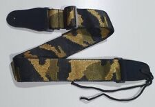 More details for guitar strap camo camouflage army on black embroidered posh bling glitzy mint uk