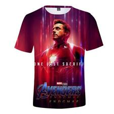 Avengers 4 Endgame Iron Man 3D Printed T-shirt Tony Stark Short Sleeve Tee Tops