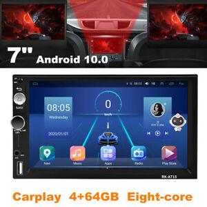 "7"" Double DIN Car Stereo Radio Android 10.0 Navi Carplay 4+64GB Eight-core Wifi"