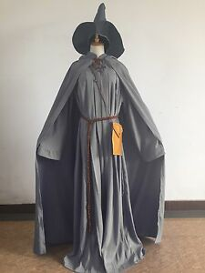 Lord of the Rings Gandalf Wizard Halloween Cosplay Costume Mens Fancy Outfit Hot